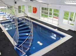 Indoor Geometric Vinyl Liner Swimming Pool