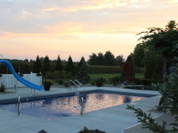 Vinyl Liner Pool With Slide