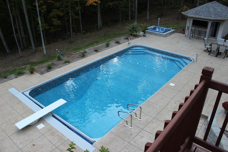 Columbus swimming pool photos inground pools above ground for Cheap deep pools